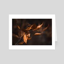 Brown Leaves - Art Card by Ashley Gedz