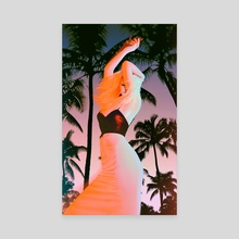 Night Girl Palms - Canvas by Eugene Borschevsky
