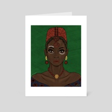 Nneka - Art Card by chisom onyishi