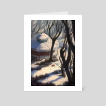 Winter stroll  - Art Card by Niv Shpigel