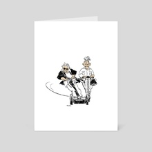 Old Woman Rides series 2 - Art Card by Milsae Kim