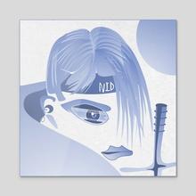 Ninja - Acrylic by Vogdux Sergik