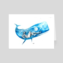 in the whale's belly - Art Card by Ayodê França