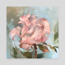 Rose Study - Canvas by Natalia Data