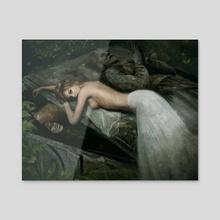 The Highgate Vampire - Acrylic by Joe Roberts