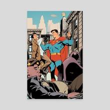 Superman Saves The Day - Canvas by Gleb Melnikov