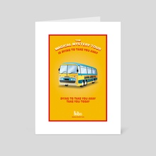 Magical Mystery Tour Beatles Poster's - Art Card by Alessandro Berzuini