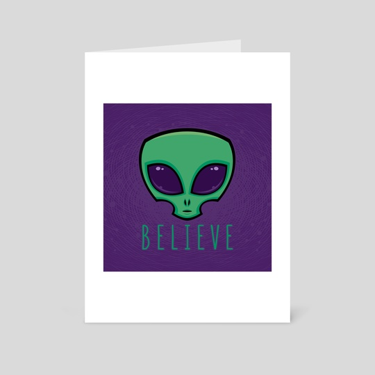Believe Alien Head by John Schwegel