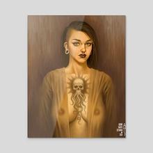Portrait #24 - Acrylic by Agung Wahyu Setiawan