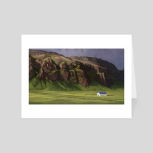 Iceland Study #9 - Art Card by Erin McGuire