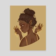 dripping in gold - Canvas by Emma Kielgas