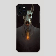 Anubis black suit - Phone Case by Mohamed Saad