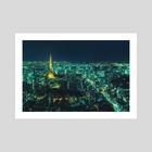 Tokyo Emerald - Art Print by Davide Sasso
