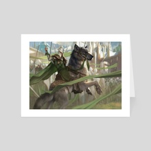 "Ledev Champion - Art Card by Mike ""Daarken"" Lim"