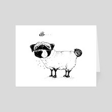 Pug Thoughts - Art Card by Kim Gaul