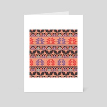 Ethnic pattern 27 - Art Card by Luiza Kozich
