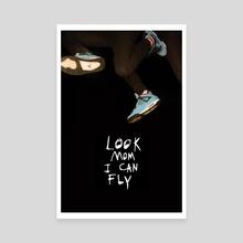 Look Mom I Can Fly - Canvas by Payton Slay
