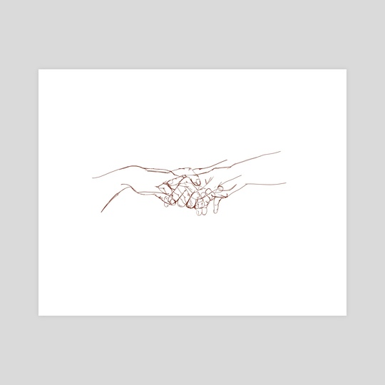Hands touching  by Erin  Rudling
