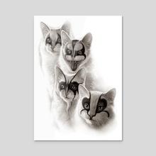 HEAVY METAL CATS - Acrylic by ADAM LAWLESS