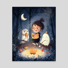 Spooky Campfire - Canvas by Lucy Fleming