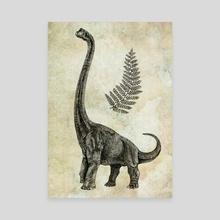 dinosaur brachiosaurus - Canvas by thomas Messmer