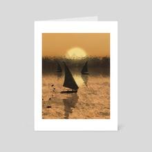 The Nile - Art Card by Diana Aziz
