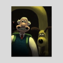 Adventure Time with Wallace and Gromit - Canvas by Aric Salyer