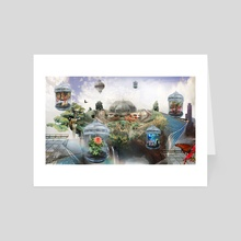 Future Gardens - Art Card by Christopher Ruane
