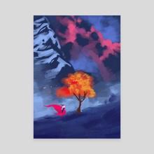 Lone Tree - Canvas by Elias Neophytou