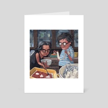 2 Broads Making Lasagna - Art Card by Jodi Chamberlain