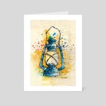 Rusty Lantern - Art Card by Marina Veselinovic