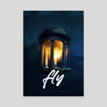 Fly - Canvas by Mohamed Tarek