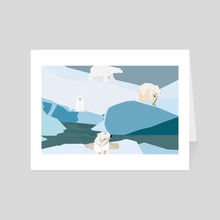 Eternal winter 17 - Art Card by Michal Eyal