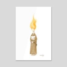 Lili in a Kimono 1 - Acrylic by Wen Dee Tan
