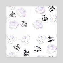 Tea time - Acrylic by Maryna Mykhalska
