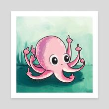 Octopus Feels - Canvas by Katrina Constantine