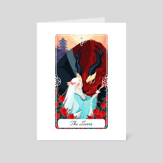 6 - The Lovers : Fairytale Tarot by Yoshi Yoshitani