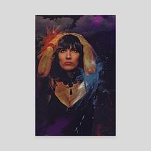 Downpour Portrait - Canvas by Galen Valle