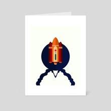 Spaceship. - Art Card by Iryna Derenska