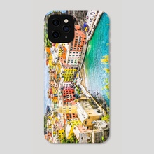 Vernazza, Cinque Terre Italy Art Print - Phone Case by Karina L