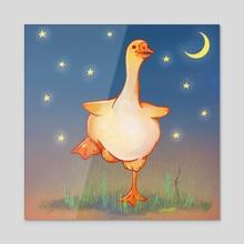Midnight Goose Chase - Acrylic by Jade Howard