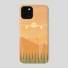 Over the Mountains - Phone Case by Imagonarium