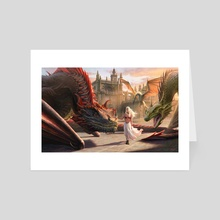 Mother of Dragons  - Art Card by Joshua Cairós