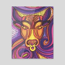 Taurus the Bull - Acrylic by ThEclecticFunk