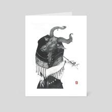 Chinese Zodiac #2_ OX - Art Card by LU KE
