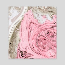 Nude+ Pink Marbling Art - Canvas by 83 Oranges