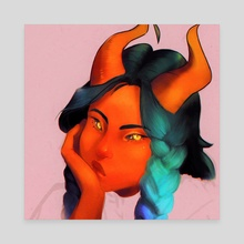 Uriel - Canvas by Becci Seidl