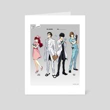 P5 Medical AU - Art Card by goro_orb