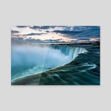 Niagara Falls on sunrise - Acrylic by Sergey Pesterev