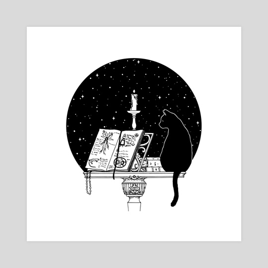 The Cat and the Candle by Feroniae
